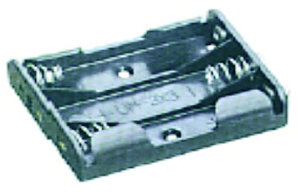 BATTERY HOLDER/OPEN/4 POLE AAA / 150MM TAILS