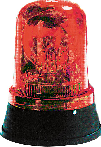 24VAC/DC RED ROTATING BEACON
