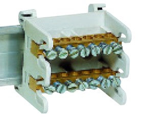 75A 2x7-WAY DIN MOUNT TERMINAL BLOCK