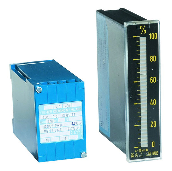 BAR GRAPH METER 230VAC 4-20MA/0-100% C/W POWER SUPPLY