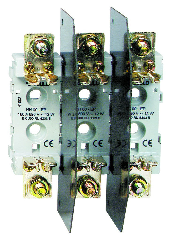 SIZE 1 3 POLE DIN FUSE BASE 660V