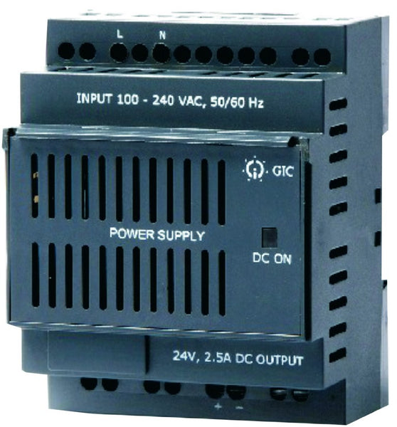 DIN,SWITCH MODE PSU,230VAC/24VDC,2.5A