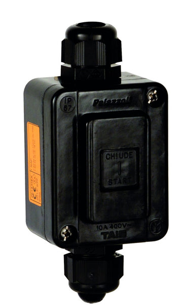 ATEX 1POLE 1NO 10A PUSH BUTTON IN BLACK SW ENCLOSURE 62X80X4