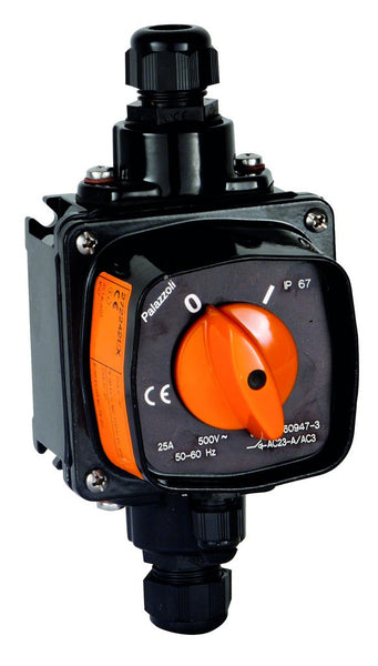 ATEX 25A 6 POLE ISOLATOR IN ALU ALLOY 125X125 IP67
