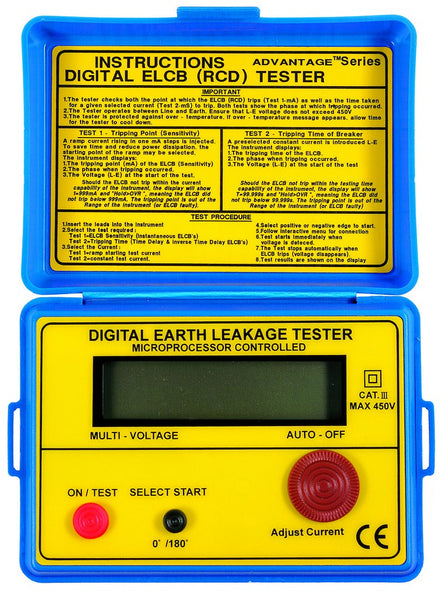 DIGITAL EARTH LEAKAGE TESTER