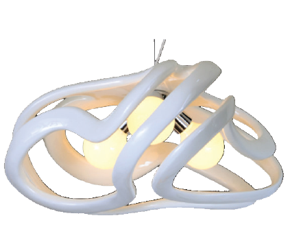 230V 3X40W E27 PENDANT LIGHT WHITE POLY RESIN