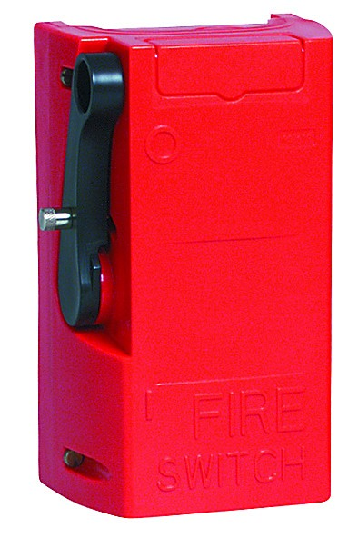 RED 2-POLE 16A FIREMAN'S EMERGENCY SWITCH IP65