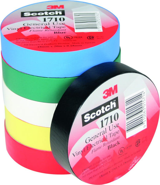 1710 RED GENERAL PURPOSE PVC ELEC TAPE 0.18mm THICK