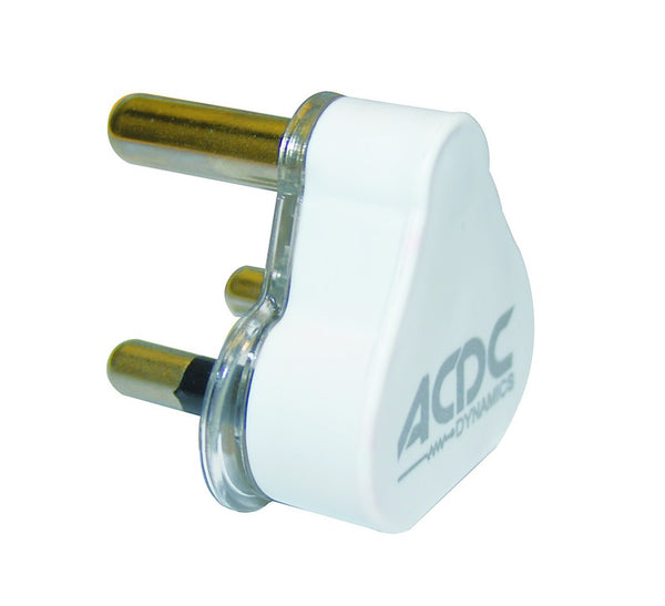 15A WHITE STD PLUG TOP