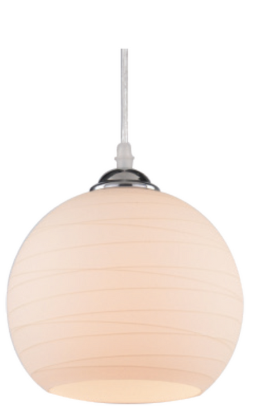 230V 60W E27 PENDANT LIGHT FROSTED GLASS DIA. 150MM