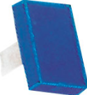 RECTANGULAR LENS BLUE