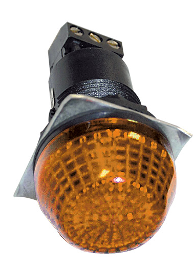 24VAC/DC 30mm AMBER BEACON STEADY/FLASHING IP65