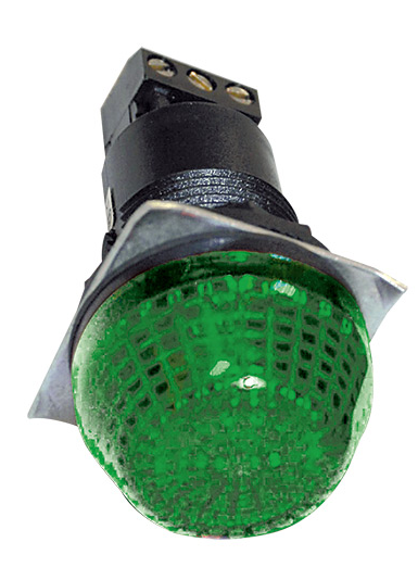 230VAC 30mm GREEN BEACON STEADY/FLASHING IP65