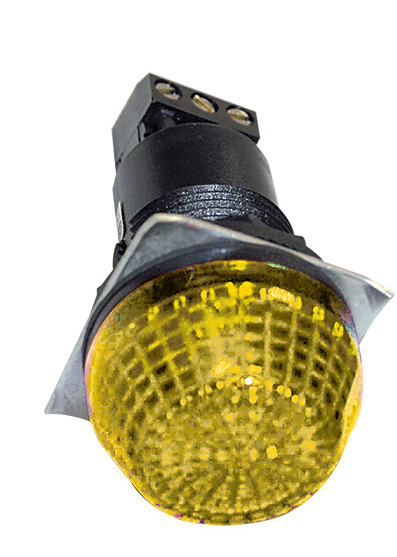 230VAC 30mm YELLOW BEACON STEADY/FLASHING IP65
