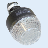 24VAC/DC 45mm CLEAR BEACON STEADY/FLASHING IP65