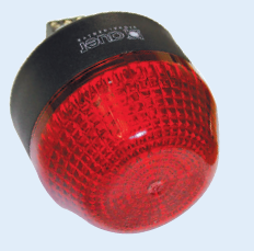 230VAC 65mm RED BEACON STEADY/FLASHING IP65