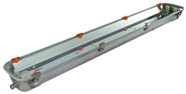 1+1X18W T8 230V EMERG ATEX RINO-EX S/STEEL GLASS COVER & SYM