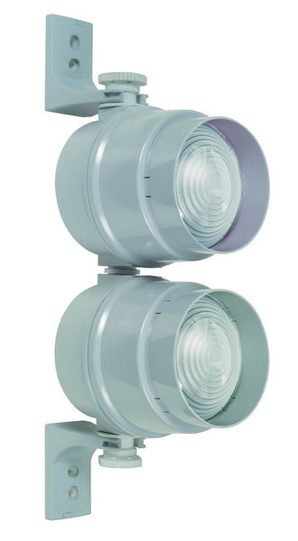 TRAFFIC LIGHT HEAD CLEAR 2 x E14 SOCKETS NO LAMP