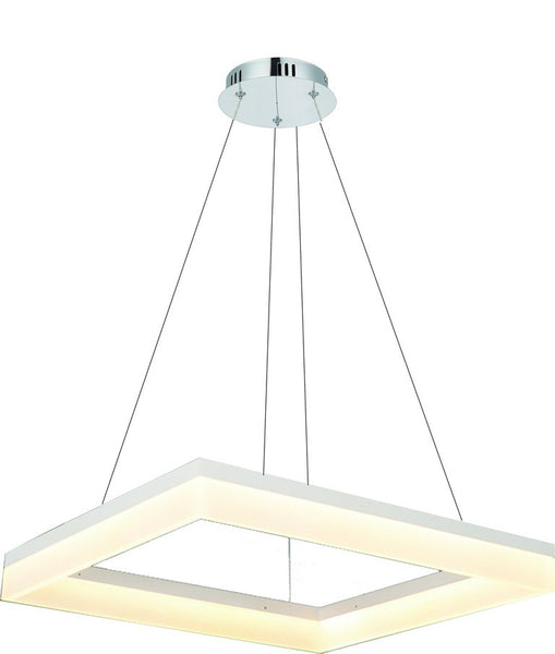 230V 30W COOL WHITE SQUARE LED PENDANT