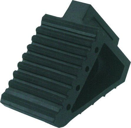 REINFORCED RUBBER WHEEL CHOCK 15 X 8.5 X 8.5CM