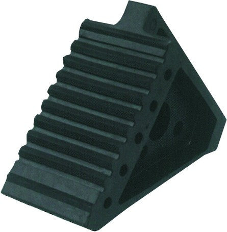 REINFORCED RUBBER WHEEL CHOCK 22 X 14 X 9.5CM