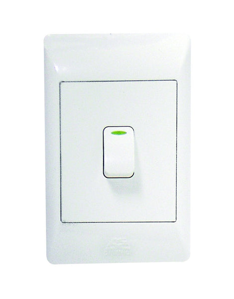 1-LEVER 1-WAY SWITCH 2x4 C/W WHITE COVER PLATE
