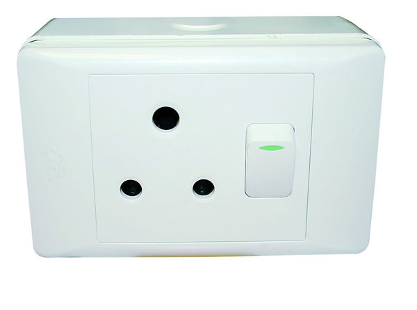 1x16A SW SOCKET OUTLET 4x2 C/W SURFACE BOX