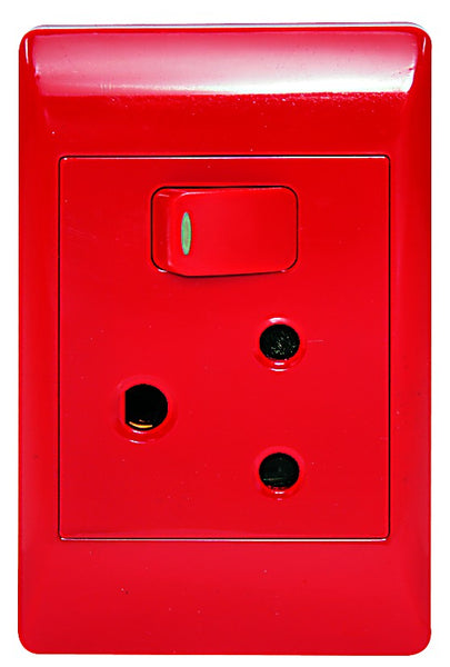 1X16A DEDICATED RED SWITCHED SOCKET OUTLET 2x4