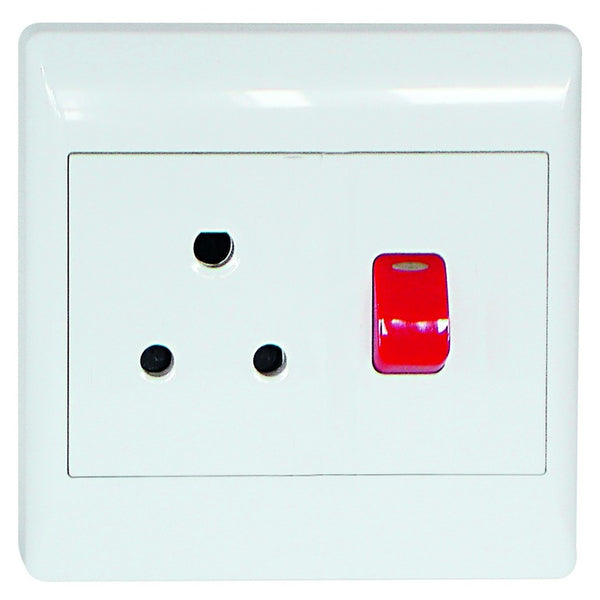 1X16A DEDICATED WHITE SWITCHED SOCKET OUTLET 4x4
