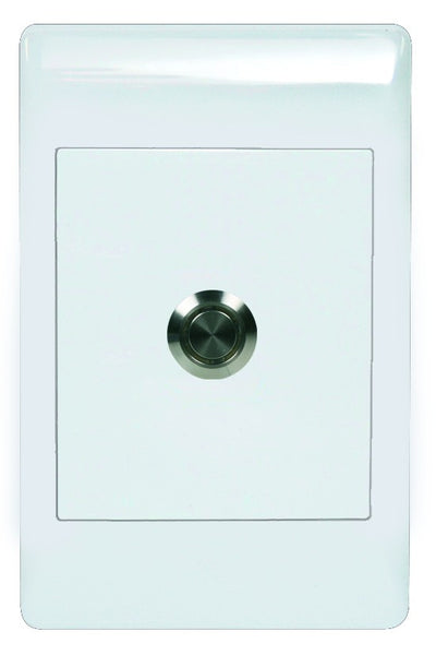 PUSH BUTTON SWITCH C/W 2x4 WHITE COVER PLATE