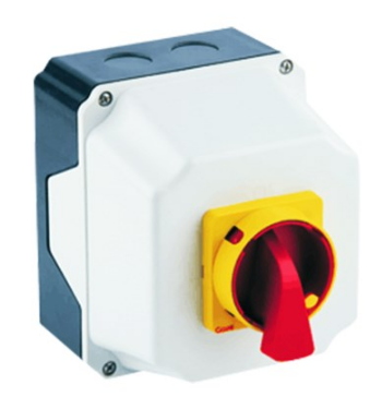 16A 3-POLE ENCLOSED CHANGEOVER SWITCH IP65