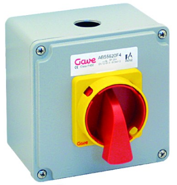 FIRE RATED ISOLATOR F400 63A, 2 AUX CONTACTS 1 NO + 1 NC