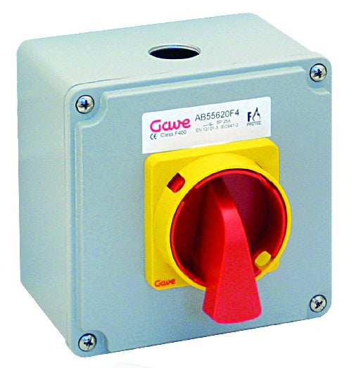 FIRE RATED ISOLATOR F300 25A, 2 AUX CONTACTS 1 NO + 1 NC