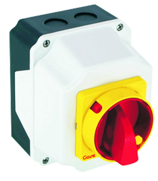 25A 3-POLE ENCLOSED CHANGEOVER SWITCH IP65
