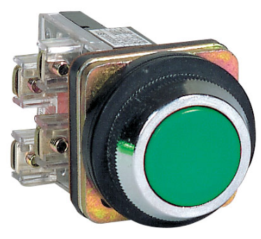 30mm GREEN FLUSH PUSHBUTTON OPERATOR