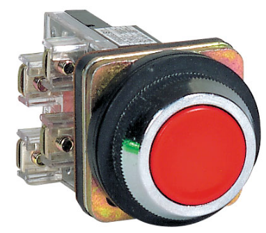 30mm RED FLUSH PUSHBUTTON OPERATOR