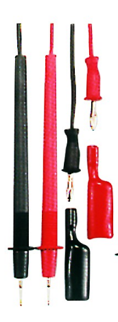 TEST PROBES + CLIPS (RED & BLK PAIR)
