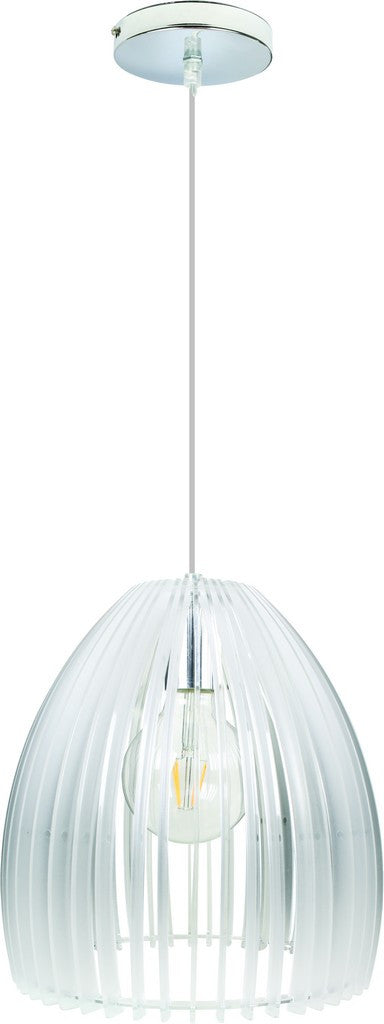 60W E27 ACRYLIC PENDANT LIGHT FITTING 250mm DIA