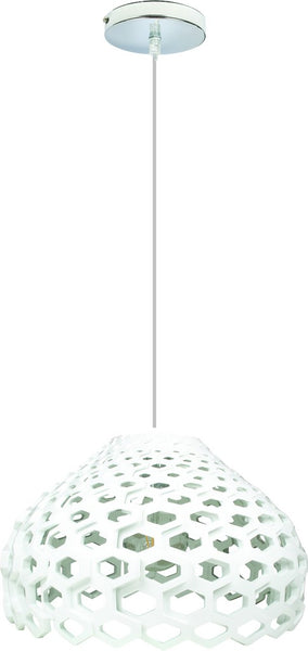 60W E27 ACRYLIC PENDANT LIGHT FITTING 400mm DIA