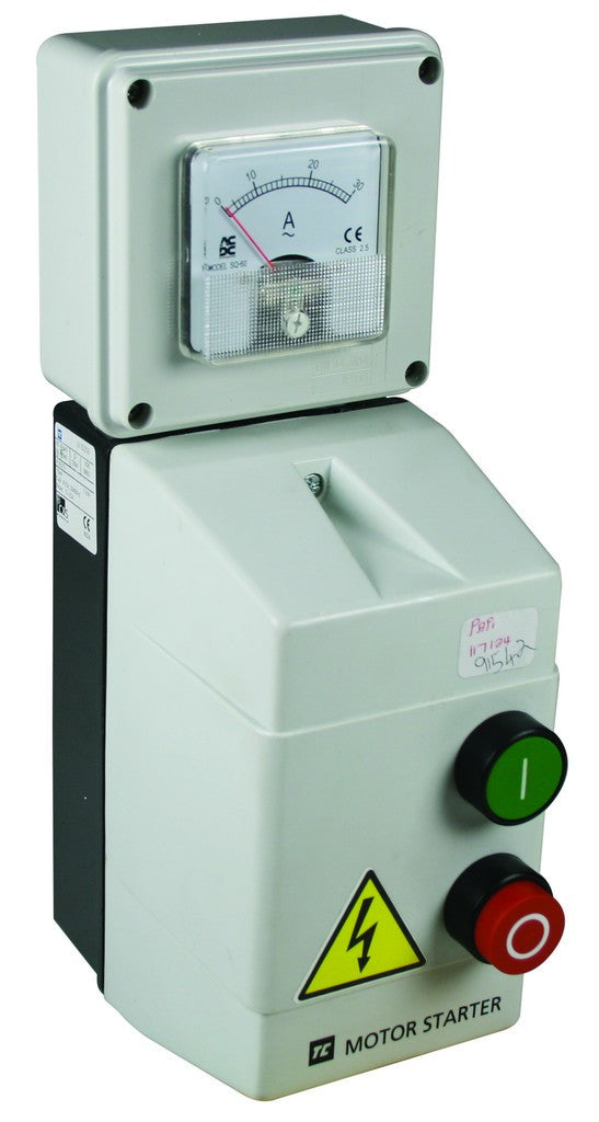 0.37kW 400V DOL STARTER + AMM 0.63-1A GREY POLY IP54 240V CO
