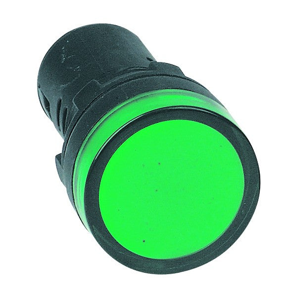 GREEN LED PILOT LIGHT HI-BRITE 22mm