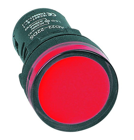 RED LED PILOT LIGHT HI-BRITE 22mm