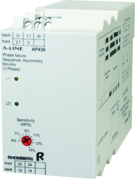 550VAC 3 PH+N SEQUENCE / FAILURE / ASYMMETRY SUPPLY MONITOR