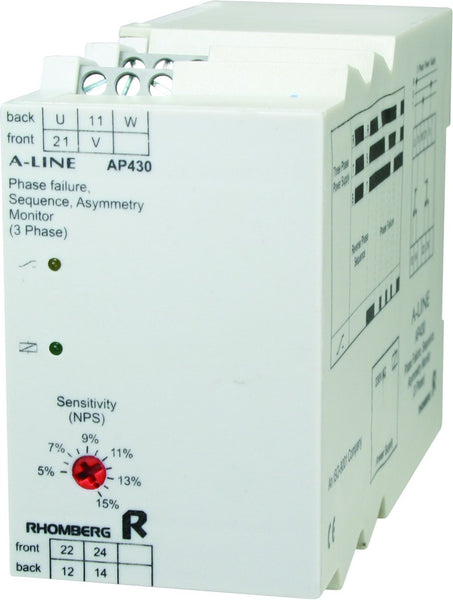 525VAC 3 PH SEQUENCE / FAILURE / ASYMMETRY SUPPLY MONITOR