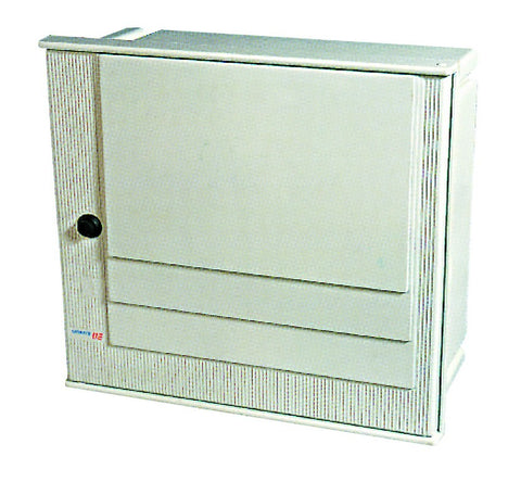 METER BOX 520x535x220 NO CHASSIS PLATE, 2 METER WINDOWS