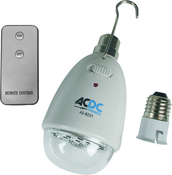 230VAC 22 LED RECHARGEABLE LAMP B22  C/W E27 LHA AND REMOTE