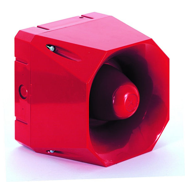 110-250VAC SIREN  RED 110dB 42TONES IP66