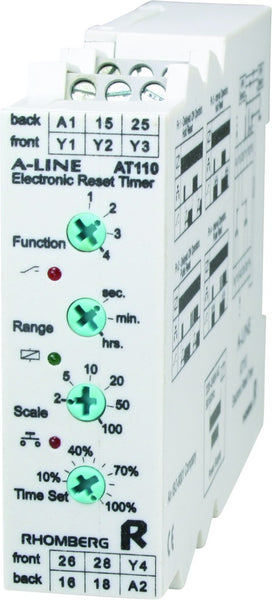 12-24VAC/DC MULTI-FUNCTION ELECTRONIC RESET TIMER 0-100h