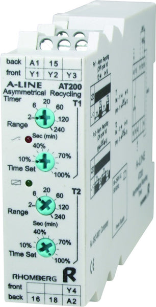 48VDC 0-240m ASYMMETRICAL RECYCLING TIMER