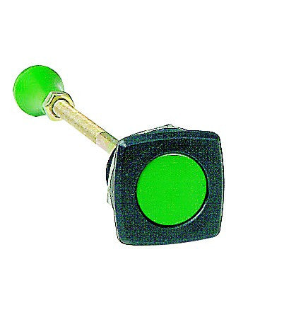 GREEN MECHANICAL PUSHBUTTON 30.5mm MOUNT 36-140mm REACH